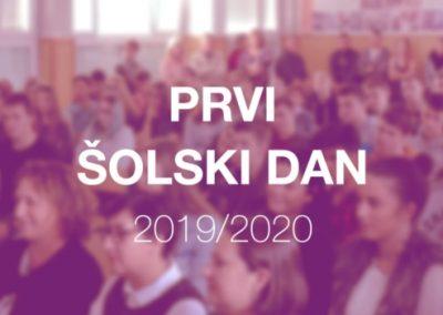 Prvi šolski dan – 2. 9. 2019